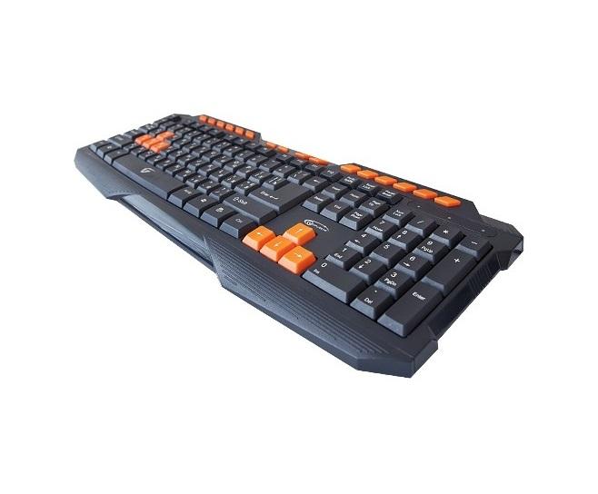 Проводная мультимедийная слим-клавиатура Jet.A SlimLine K17 с классической раскладкой и 14 клавишами быстрого доступа USB серая